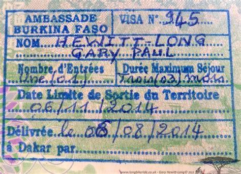 burkina faso visa application form burkina faso visa documents required embassy n visa