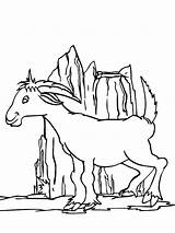 Coloring Pages Mountain Goat Hill Playing Around Printable Tree Colorluna sketch template
