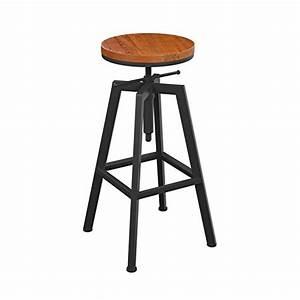 Tabouret De Bar Fer : loft tabouret de bar minimaliste tabouret de bar en fer forg tabouret de bar en bois massif ~ Dallasstarsshop.com Idées de Décoration