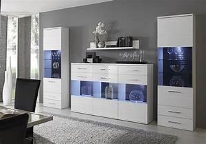 Sideboard Mit Glas Great Elegant Finest Schrank Wei
