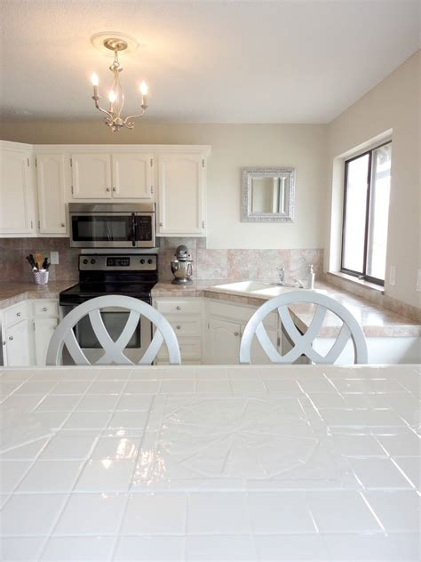 instruction   paint tile countertops step  step interior design inspirations