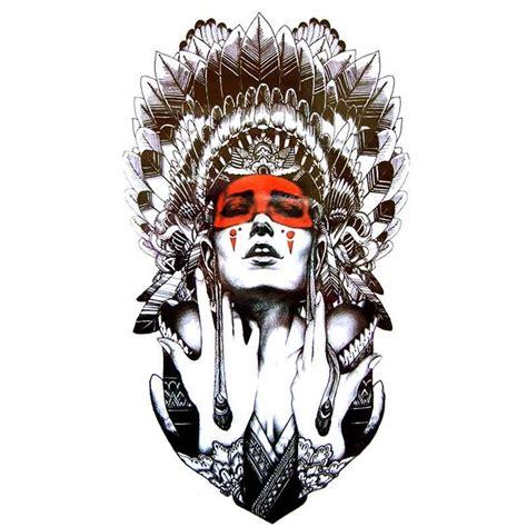 Tatouage Temporaire Et éphémère Portrait De Femme Indienne