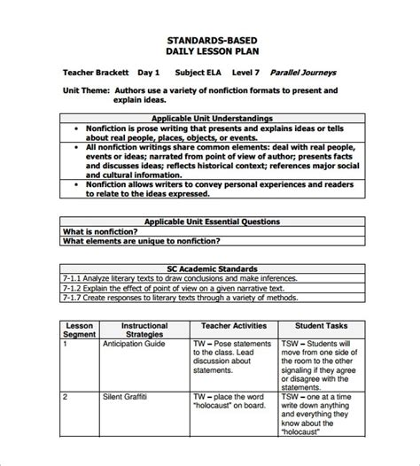 sample lesson plan outline sample lesson plan bepatient221017 com