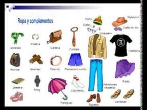 Spanish Clothes Vocabulary Words