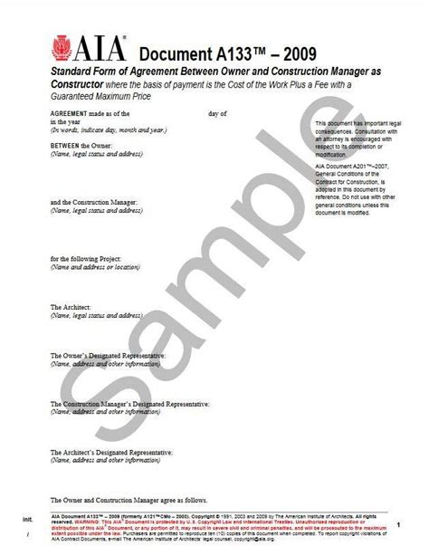 standard form of agreement between owner and contractor a133 2009 standard form of agreement between owner and