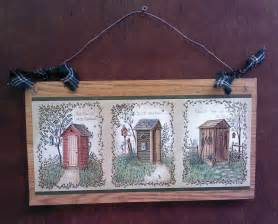 14 quot primitive bathroom wall hanging outhouse bath decor