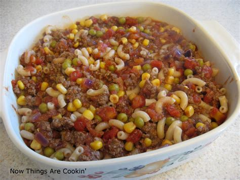 recipes with hamburger now things are cookin making the best of things hamburger macaroni casserole recipe