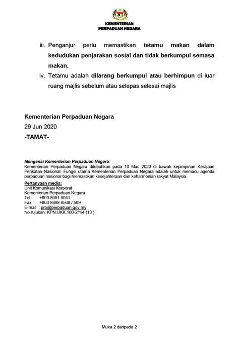 Contoh Surat Rasmi Permohonan Mengadakan Majlis ...
