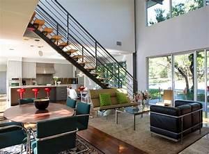 decoration salon ouvert sur la cuisine decor de maison With attractive plan de maison moderne 10 deco salon et cuisine ouverte