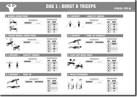Fitness schema kracht 3 dagen