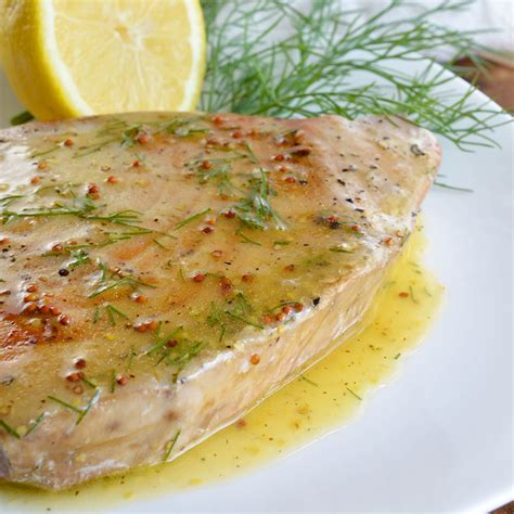 tuna steak recipes pan seared tuna steak with lemon dill sauce