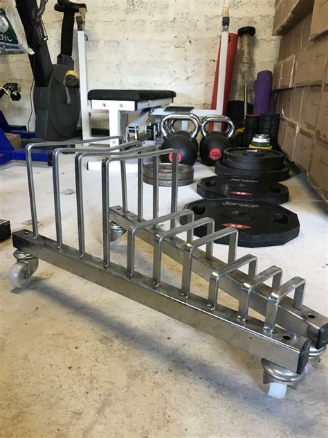 olympic weight plate bumper storage toaster rack  wheels weights gym  dromore county