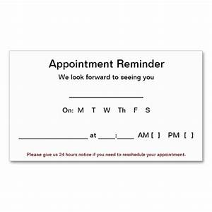 best photos of appointment reminder template free With appointment cards templates free