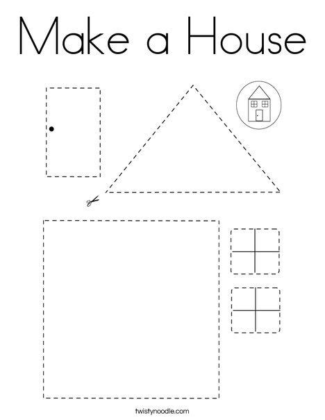 house coloring page twisty noodle  images