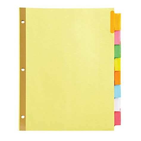 Office Depot Divider Templates by Office Depot 174 Brand Insertable Tab Dividers 8 Tab Buff