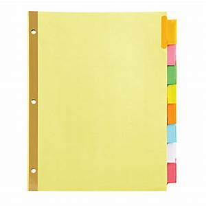 office depotr brand insertable tab dividers 8 tab buff With office depot divider templates