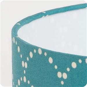 Lampe Bleu Canard : abat jour design pour lampe lampadaire ou suspension en tissu motif japonais bleu canard ~ Teatrodelosmanantiales.com Idées de Décoration