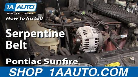 How Replace Serpentine Belt Pontiac Sunfire Auto