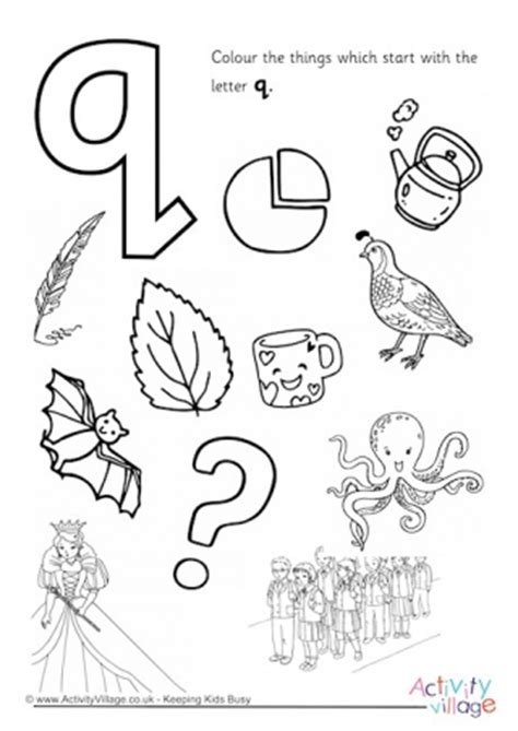 letter colouring pages