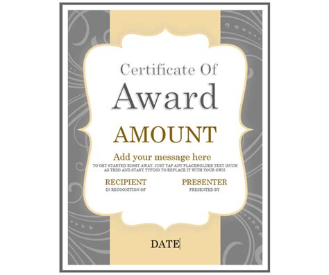 gift certificate template  microsoft office
