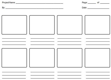 education storyboard template   word  format