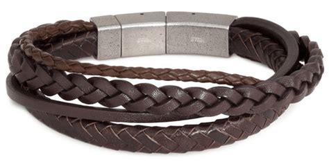 fossil herren armband leder braun geschenkidee f 252 r m 228 nner