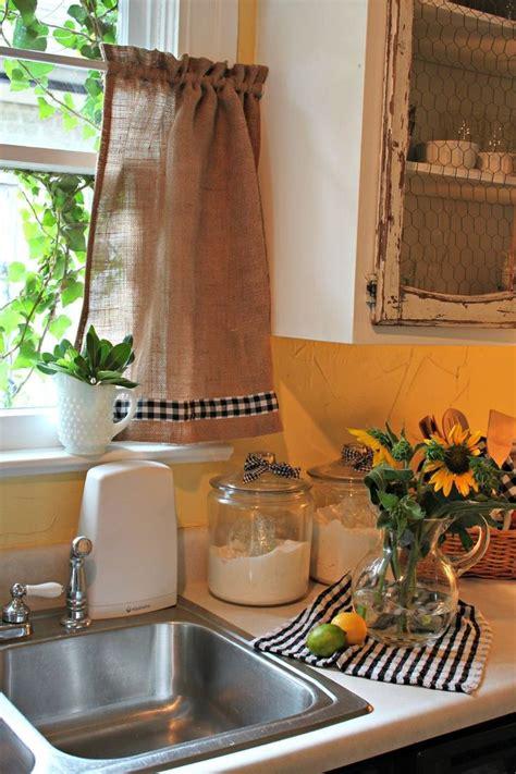 ideas  put  curtain   kitchen