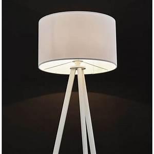 Lampe Sur Pied Scandinave : lampe sur pied de style scandinave trani en tissu blanc ~ Teatrodelosmanantiales.com Idées de Décoration