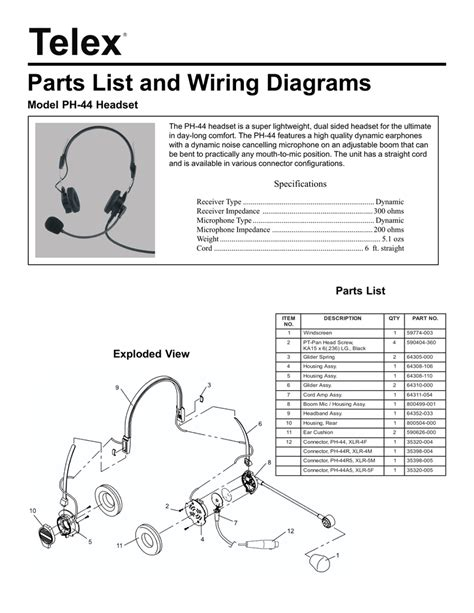 Wrg Telex Headset Wiring Diagram