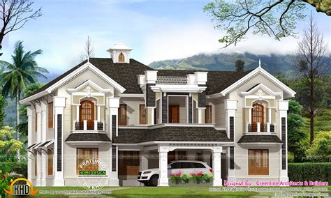 style home designs colonial style house in kerala kerala home design and