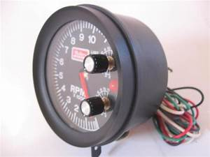 Buy Nos Mallory 11k Rpm Large Diameter Tachometer Built In Rev Limit  Shift Light Wow Motorcycle
