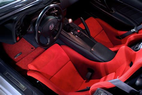 genuine honda  red  black  piece mat set