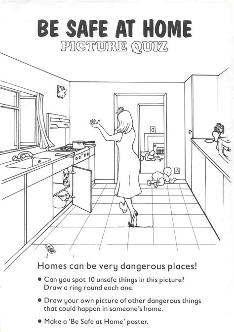 7 best of safety worksheets printables color in the house at home safety worksheets