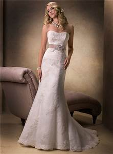 Simple mermaid strapless lace beaded wedding dress with for Corset for under wedding dress