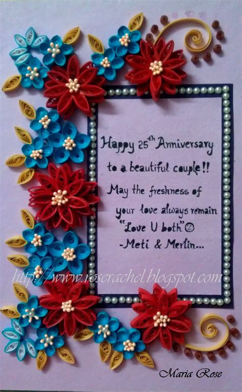 wedding anniversary themed frame beautiful quilling