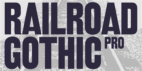 Download Railroad Gothic Pro™ Font By Red