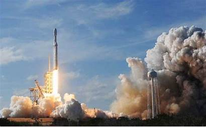 Rocket Mars Spacex Falcon Take Heavy Launched