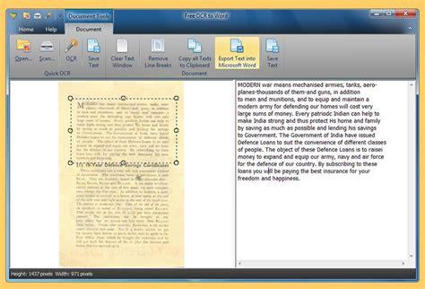 ocr software  convert   editable word text