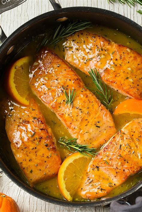 orange rosemary glazed salmon cooking classy