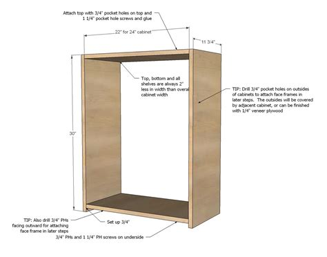 cabinet making plans free ana white build a wall kitchen cabinet basic carcass