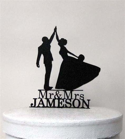 high five wedding cake topper personalized wedding cake topper high five with mr mrs
