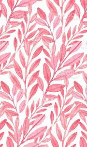 Seamless Vector Pink Pattern Of Leaves Stock Illustration ...
