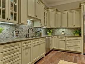 kitchen green kitchen cabinets teak wood tile