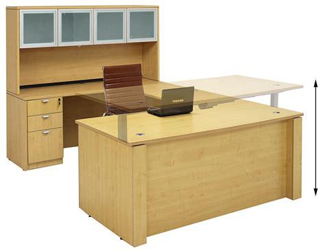 bureau desk adjustable height u shaped executive office desk w hutch