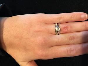 plain wedding band or diamonds With wedding ring or band