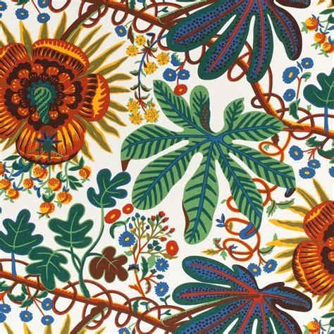 textile aralia linen  aralia josef frank svenskt tenn
