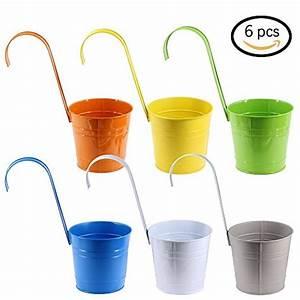 Blumentopf Mit Haken : 6er set blumentopf 15cm in 6 verschiedenen farben ~ Watch28wear.com Haus und Dekorationen