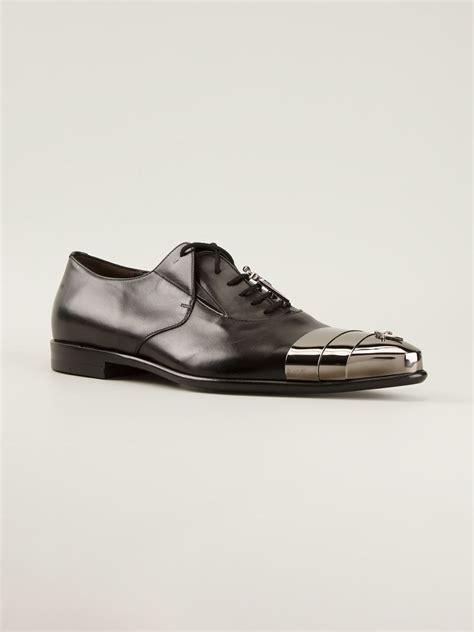lyst cesare paciotti metallic toe cap shoes  black  men