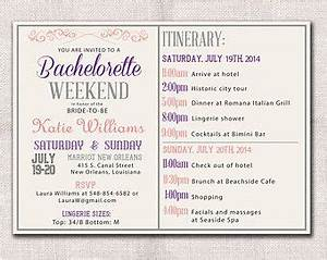 Image result for bachelorette itinerary template pine for Bridal shower itinerary template