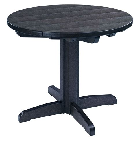 black round pedestal dining table generations black 32 quot round pedestal dining table from cr